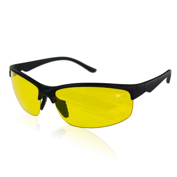 NIGHT DRIVING HD HIGH DEFINITION VISION YELLOW LENS SUN GLASSES NEW SUNNIES