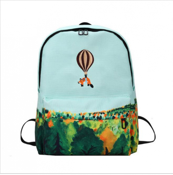 d603e353d111 Рюкзак женский Aliexpress Newest Design Fire Ballon Animal Embroidery  Backpack 3D Landscape Printing Backpack School Bags For Teenager Girls  Rucksack M455 - ...