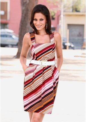Платье диагональная полоска