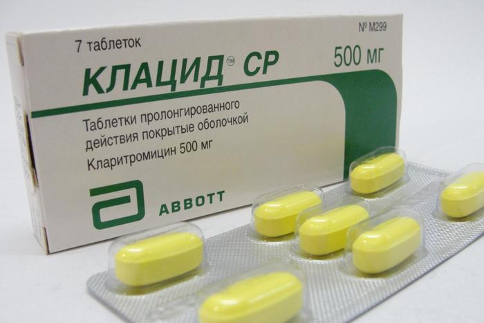 Клацид таблетки инструкция по применению