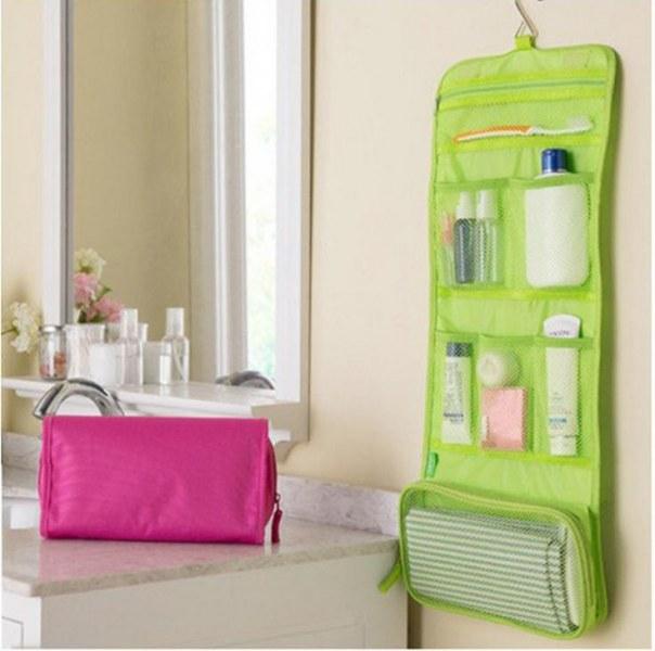 Органайзер Aliexpress Portable Hanging Organizer Bag Foldable Cosmetic Makeup Case Storage Traveling Toiletry Bags Wash Bathroom