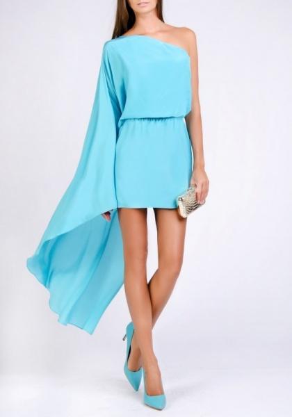 Голубое шелковое платье лав репаблик каталог