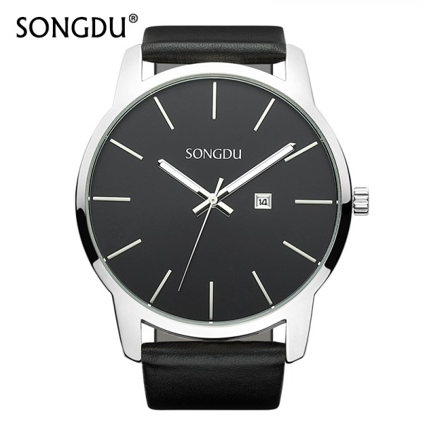aaa9947b Часы мужские кварцевые Aliexpress SONGDU-Water-Resistant-Watch-Men-s ...