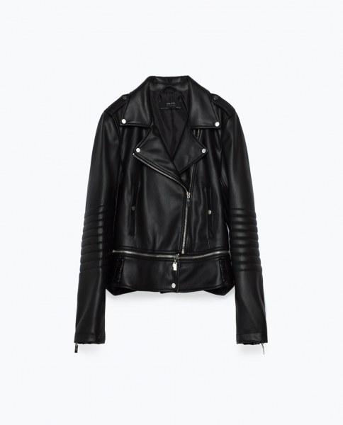 e9b0fed68654 Куртка из искусственной кожи ZARA Цвет  Черный 3046 231   Отзывы ...