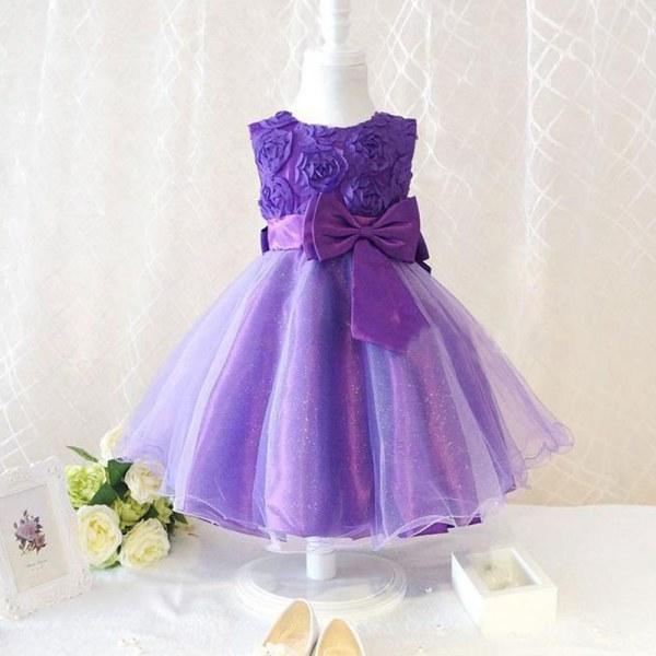 Платье детское сиреневое