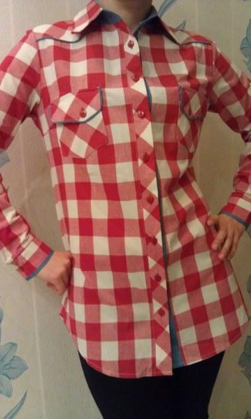 a646adf84c5ab Женская удлиненная рубашка в клетку Glem | Отзывы покупателей