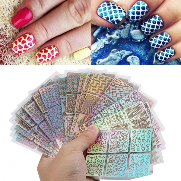 Aliexpress Tips Sheet DIY Fashion Women Nail Vinyls Art Manicure Stencil Stickers Stamp Template Decals Tool Nice