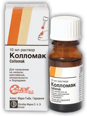 Средство для удаления бородавок Collomak Колломак от