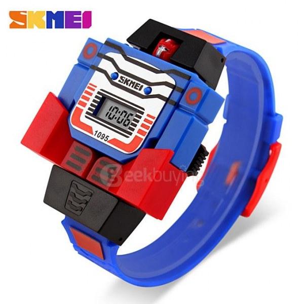 ee4b09eb Часы наручные детские Geekbuying SKMEI 1095 Detachable Transformers Cartoon  Robot Kids Watch - отзывы