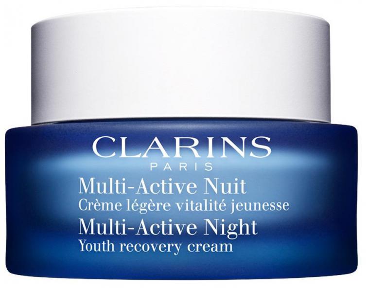 clarins multi-active ночной крем против первых морщин для любого типа кожи
