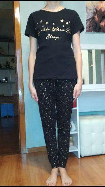 08f1ef73b192 Пижама женская AVON Черная со звёздочками - «Моя Звёздная ночь ...