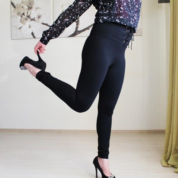 cfceb43b8aabf Леггинсы AliExpress COLROVIE 2018 Spring High Waist Skinny Leggings Black  Empire Eyelet Lace Up Sexy Leggings Women Elegant Sporting Pants - отзывы