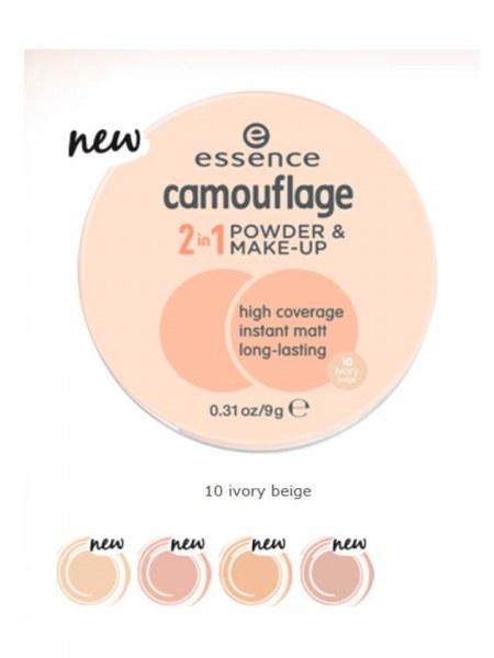 Крем-пудра <b>Essence</b> Компактная пудра camouflage 2in1 powder ...