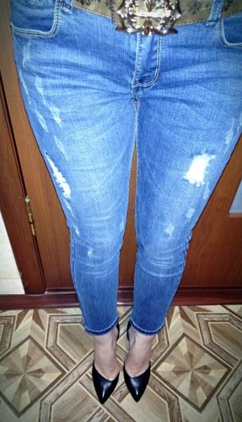 16e5cde91ac Джинсы AliExpress Ripped Jeans For Women Skinny Denim Capri Jeans Femme  Stretch Plus Size Female Jeans Vaqueros Mujer Slim Pencil Pants For Women -  отзывы
