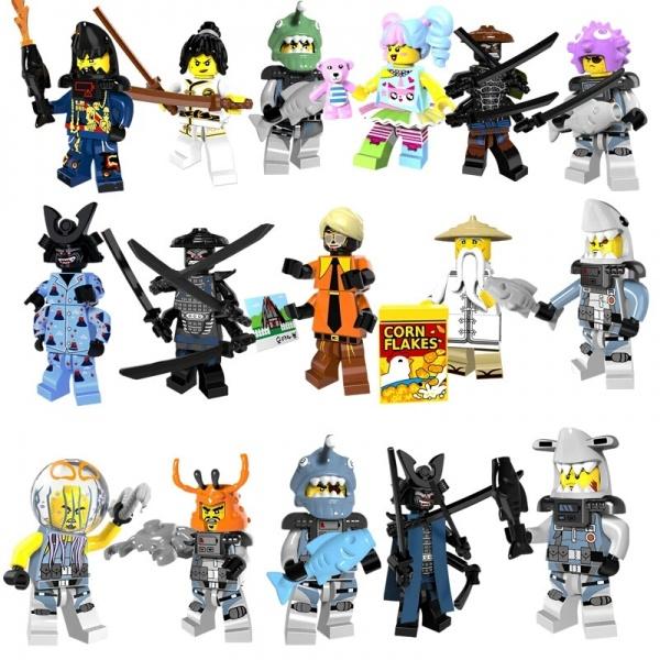 Aliexpress минифигурки Lego серия Ninjago Movie Garmadon Shark