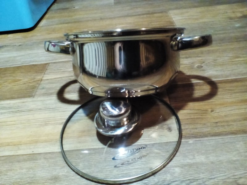 Кастрюля Катунь Гретта КТ04-D-45М 22 см 4.5 л нержавеющая сталь