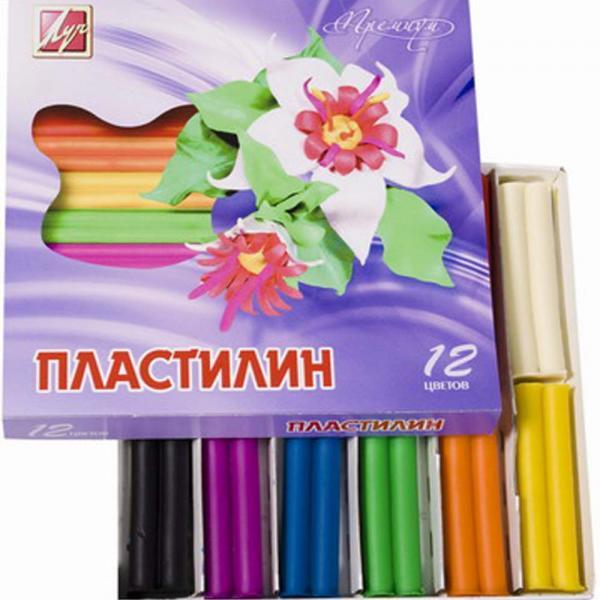 Пластилин луч 12 цветов