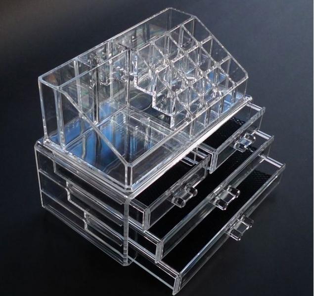большой прозрачный органайзер для косметики