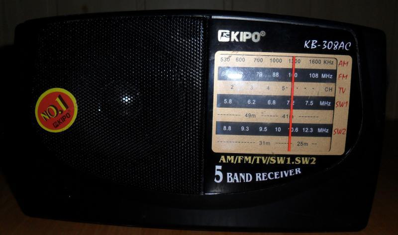 схема радиоприемника КВ-308АС KIPO.