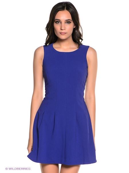 Платье инсити голубое