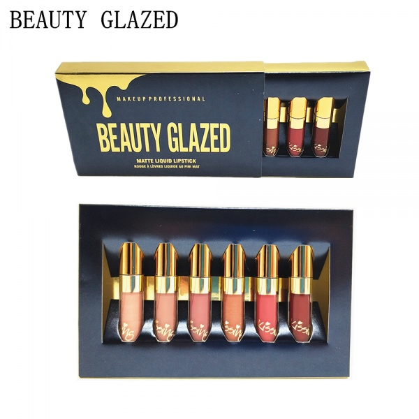 набор блесков для губ Aliexpress 6pcsset Beauty Glazed Matte