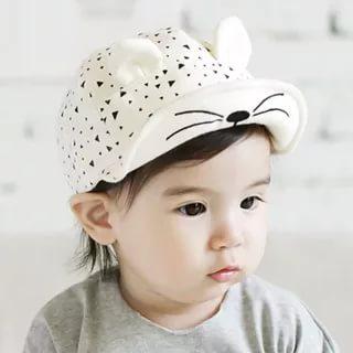 Кепка AliExpress Cute Baby Cartoon Cat Hat Kids Baseball Cap Palm Newborn Infant Boy Girl Beanies Soft Cotton Caps Infant Visors Sun Hat - отзывы