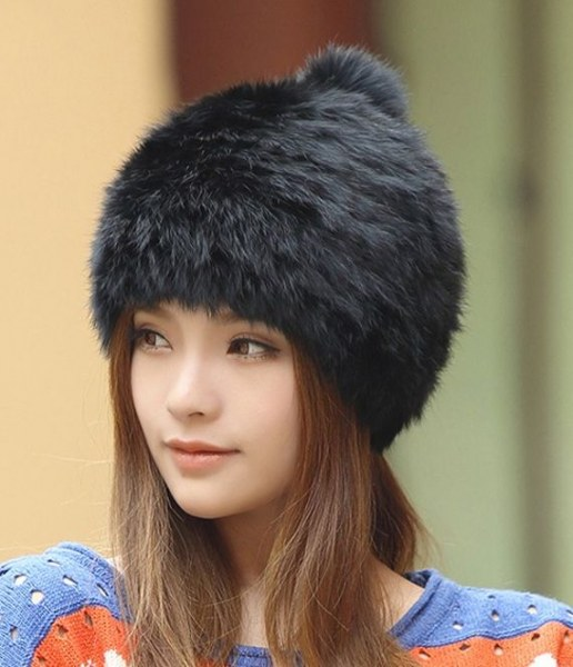 d4faf9ac4f616 Шапка AliExpress High quality Fashionable winter hats for women Rabbit Fur  beanie Knitting wool Real Fur Casual cute girls cap free shopping - отзывы