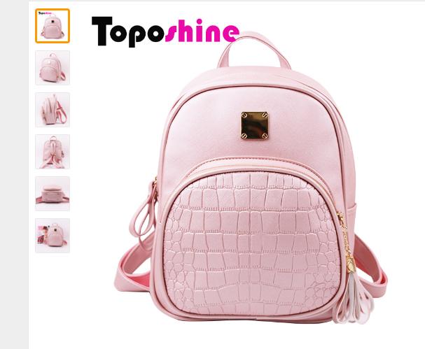 Рюкзак женский Aliexpress Toposhine 2016 New Korean Backpacks Fashion PU  Leather Shoulder Bag Crocodile Pattern Small Backpack Embossed School Bags  1560 - ... bfeb92efc64