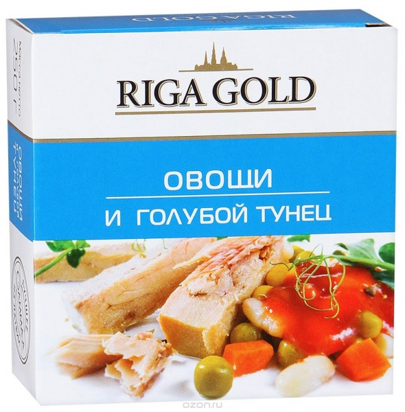 консервированный тунец с овощами