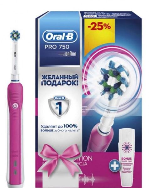 Электрическая зубная щетка Oral-B PRO 750 Cross Action 4cc9ca091ba1a