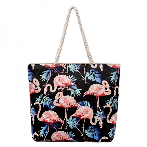 1493ccb2d784 Пляжная сумка Aliexpress Direct Delivery Leader of Sales Flamingo Canvas  Handbags Korean Fashion Large Capacity Casual Bag College School ZYH113 -  отзыв