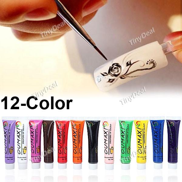 Как выглядят акриловые краски для ногтей