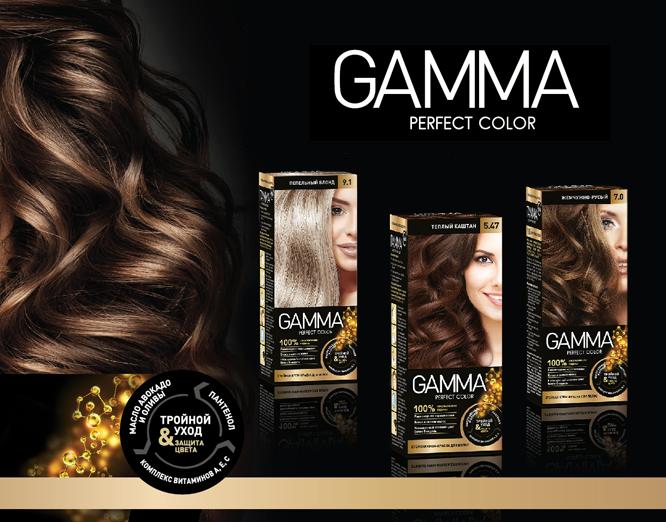 Gamma краска для волос палитра