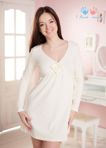 9b64e7a2f9309 Ночная рубашка для беременных и кормящих мам I love mum Ночная рубашка для  беременных и кормящих