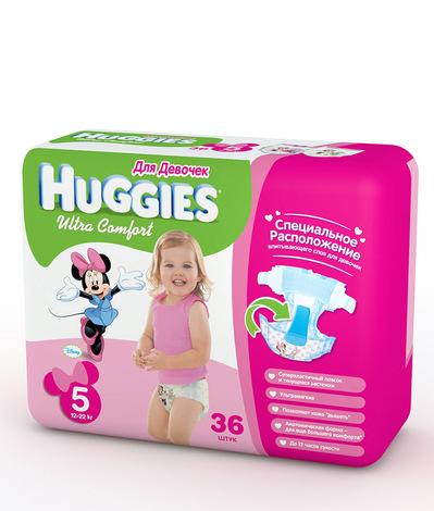 Подгузники Huggies Ultra Comfort Для девочек   Отзывы покупателей 90c156ce5cc