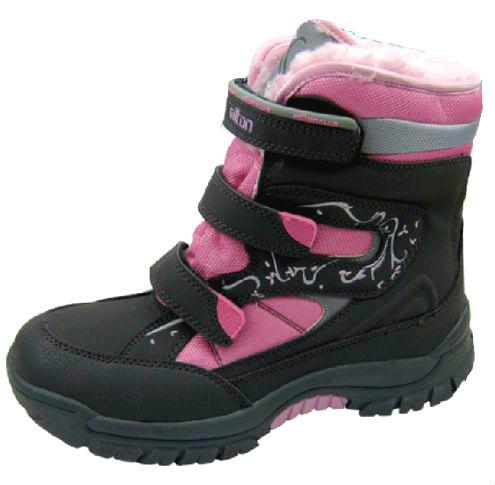 Зимние ботинки Milton На застежках липучках для девочек фото 263ad926f1e54