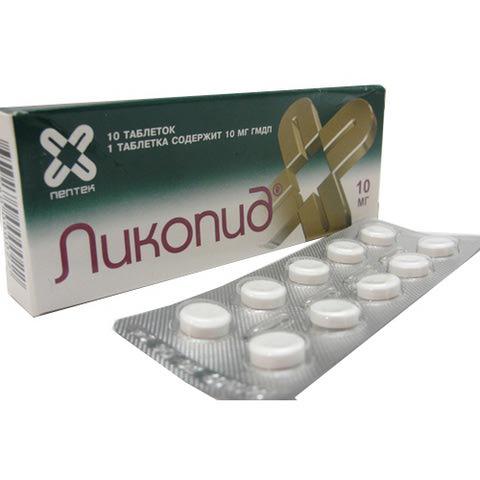 Ликопид таблетки 10 мг 10 шт (5919) купить по цене 1 827,0 руб в.