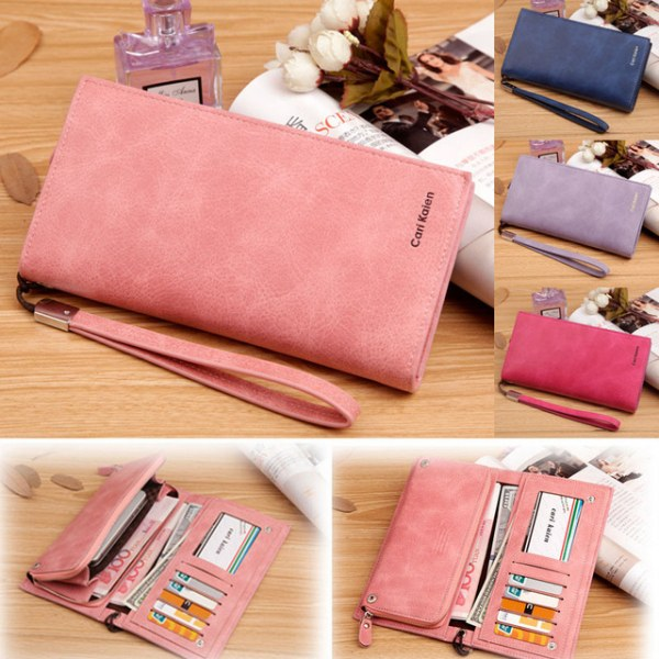 fe4b1bfc12b6 Женский кошелек Aliexpress New arrival Vintage Women's wallet Phone bag  candy color Clutches wallet brand Nubuck