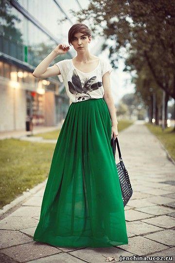 Оджи юбки длинные